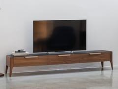 Mobile TV basso in legno con ante a ribaltaATLANTE | Mobile TV - PORADA