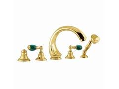 Set vasca in ottone con doccetta con rosette separate ATLANTICA PRECIOUS | Set vasca - Atlantica Precious