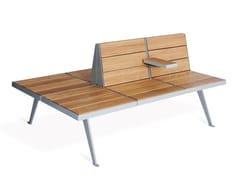 Panchina in acciaio e legno con schienaleATLAS - VESTRE