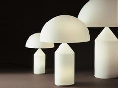 Lampada da tavolo a luce diretta in vetro soffiato ATOLLO - 235/236/237 -