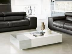 Tavolino basso rettangolare ATOLLO | Tavolino con vano contenitore -