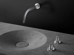 Rubinetto per lavabo a muro con rosette separate ATRIO ICON 3D | Rubinetto per lavabo a muro - Icon 3D