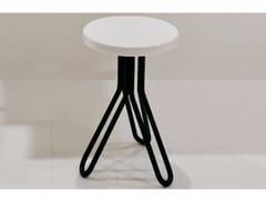 Sgabello / tavolino in ceramica ATTACH | Tavolino rotondo -