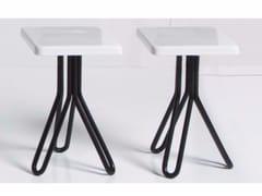 Sgabello / tavolino in ceramica ATTACH | Tavolino quadrato -