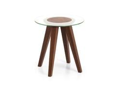 Tavolino rotondo in vetro in stile moderno ATTESA | Tavolino in vetro - Attesa