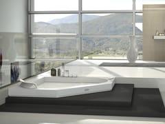 Vasca da bagno angolare idromassaggio in Corian®AURA CORNER 140 CORIAN® - JACUZZI® EUROPE