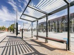 Pensilina in acciaio e vetro per fermata autobusAUREO - MMCITÉ 1