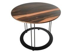 Tavolino rotondo in ebano da salotto AUREOLA | Tavolino in ebano - Aureola