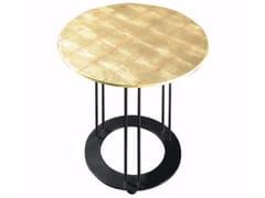 Tavolino rotondo foglia oro da salotto AUREOLA | Tavolino foglia oro - Aureola