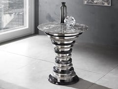 Tavolino alto rotondo in Crystal Stone®AURIGA | Tavolino - BALLARINI