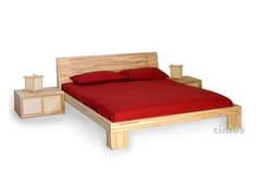 Letto matrimoniale in legno masselloAURORA - CINIUS