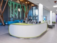 Banco reception in Solid Surface AVONITE | Banco reception - AVONITE SURFACES BY ARISTECH SURFACES