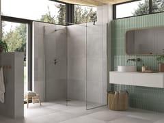 Flair Showers, AYO con punti di fissaggi alternativi Box doccia con due pannelli in vetro e barra stabilizzatrice