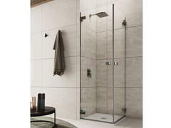 Box doccia angolare con porta a battenteAZURE - 1 - INDA®
