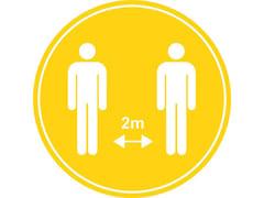 Made Design, Adesivi per il distanziamento sociale Segnaletica per distanziamento