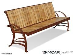 Panchina in acciaio e legno con schienalePanchina Argese - DIMCAR