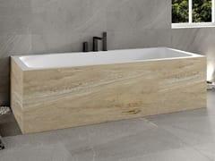 Vasca da bagno rettangolare in Corian® su misuraB-ROUND   Vasca da bagno rettangolare - RILUXA