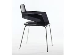 Sedia in policarbonato con braccioli B32 4L | Sedia in policarbonato - B32
