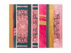 Tappeto rettangolare in lana e seta a righe B4 | Tappeto - Paralleli