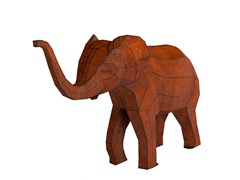 Scultura in acciaio Corten™BABY ELEPHANT - PUNTO DESIGN