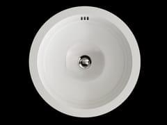 Lavabo da incasso sottopiano rotondo in ceramica BABYLON | Lavabo in ceramica -