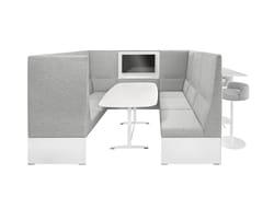 Isola ufficio acustica multimediale in tessutoBANC CABIN - BRUNNER