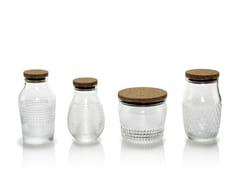 Set di 4 barratoli in vetro soffiatoBARATTOLANDO | Contenitore per alimenti - INDUSTRIA VETRARIA VALDARNESE