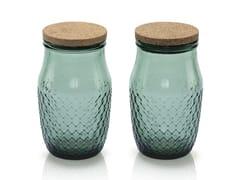 Set di 2 barattoli in vetro soffiatoBARATTOLANDO | Contenitore per alimenti in vetro - INDUSTRIA VETRARIA VALDARNESE