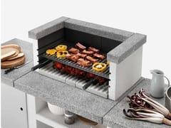 Barbecue a carbonella a legna in cementoBARBECUE DA APPOGGIO SINGOLO - PALAZZETTI LELIO