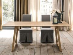 Tavolo da pranzo rettangolare in rovere BARCELLONA + FLAT - ECOLAB