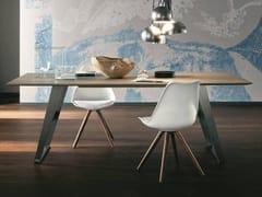 Tavolo da salotto rettangolare in rovereBARCELLONA + IRON - ALTA CORTE