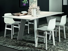 Tavolo da pranzo rettangolare in legno BARCELLONA + STREET - ECOLAB