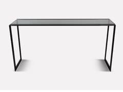 Consolle rettangolare in acciaio inox e vetroBARCELONA | Consolle - MORADA - HAUTE FURNITURE BOUTIQUE