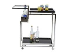 Carrello bar in acciaio cromatoBARFLY - KARE-DESIGN