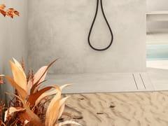 CERAMICA DEL CONCA, BARK Piatto doccia filo pavimento rettangolare in gres porcellanato