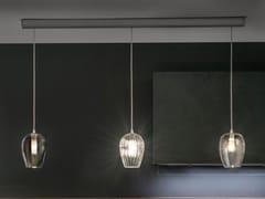 Lampada a sospensione a LED in vetro soffiatoBARRA X3 PENDOLINO XL - ALBUM ITALIA