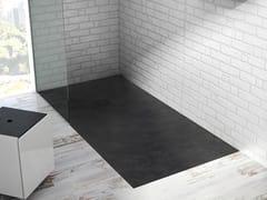 Acquabella, BASE BETON Piatto doccia antiscivolo rettangolare in Akron©