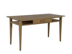 Scrivania rettangolare in legno massello con cassettiBASIC DESK W/MID - WARISAN