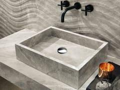 Lavabo da appoggio rettangolare in gres porcellanatoBASIN - ITALGRANITI
