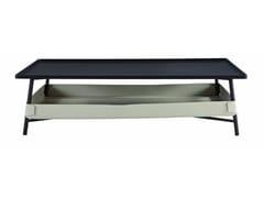 Tavolino rettangolare in MDF con portariviste da salotto BASKET | Tavolino da salotto -