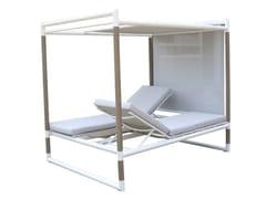 Letto da giardino reclinabile in alluminio a baldacchinoBASTINGAGE | Letto da giardino a baldacchino - LES JARDINS