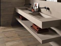 Lavabo doppio rettangolare in gres porcellanato con pianoBATH DESIGN | Lavabo doppio - ABK INDUSTRIE CERAMICHE
