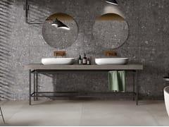 Piano lavabo doppio in gres porcellanatoBATH DESIGN | Piano lavabo - ARIANA CERAMICA ITALIANA