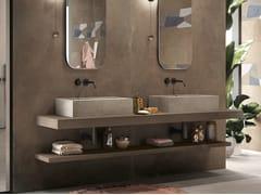 Lavabo da appoggio rettangolare singolo in gres porcellanatoBATH DESIGN | Lavabo rettangolare - ARIANA CERAMICA ITALIANA