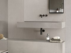 Lavabo rettangolare singolo sospeso in gres porcellanatoBATH DESIGN | Lavabo sospeso - ARIANA CERAMICA ITALIANA