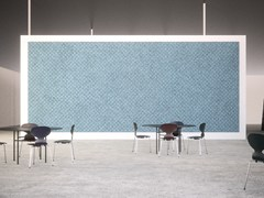 BAUX, BAUX ACOUSTIC PANEL CHECK Pannelli decorativi acustici in cemento-legno