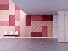 Pannelli decorativi acustici in cemento-legno BAUX ACOUSTIC PANEL DIAGONAL - BAUX