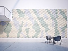 BAUX, BAUX ACOUSTIC TILES HEXAGON Pannelli decorativi acustici in cemento-legno