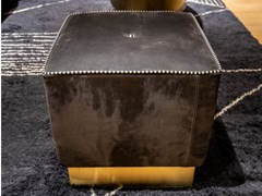 Pouf quadrato in pelleBAXTER - ANAIS 41x41-Kashimir fumé - ARCHIPRODUCTS.COM