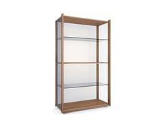Libreria / vetrina in legno e vetro BAY -